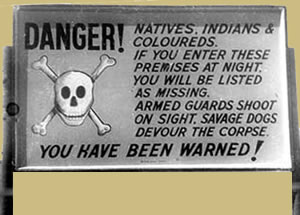 African History - Apartheid sign